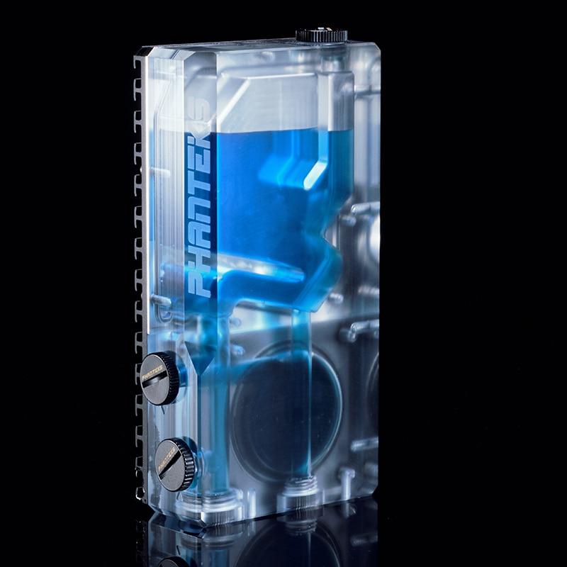 PHANTEKS 120ML RGB Water tank water cooling TRANSPARENT reservoir support DDC D5 pump support 120MM 140mm