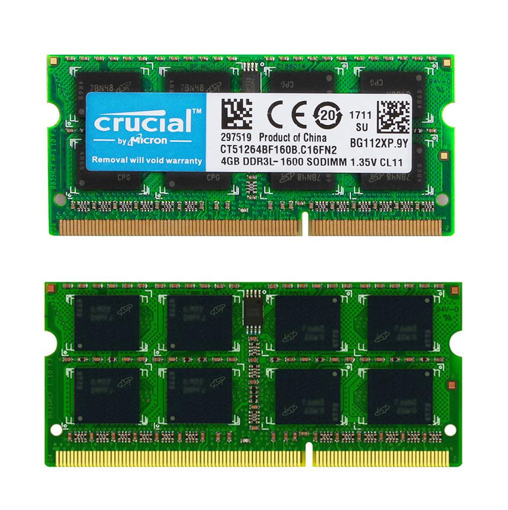 204Pin <font><b>4GB</b></font> 1600MHz Laptop Memory PC3L 12800S 2RX8 <font><b>DDR3L</b></font> 1600MHz RAM SO-DIMM image