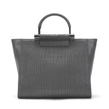 Bags For Women 2019 Luxury Handbags Women Bags Designer Crocodile Pattern Leather Shoulder Messenger Bag gray Borsa femminile все цены