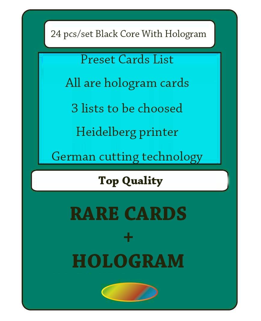 GMT cards magical proxy the gather hologram rare cards black core 24pcs set modern vintage legacy