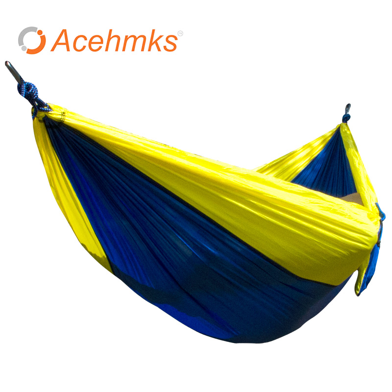 2 Person Hiking Hammock Garden Swing Portable Parachute Outdoor Furniture Acehmks Base Sleeping Bed Outdoor Camping Hamac