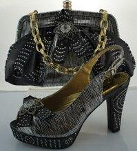 Neues Design Schuh Und Tasche Set Frauen Pumpen Afrikanische Passenden Italienischen Mode Schuhe Mit Passender Tasche Mit Steinen ME2219