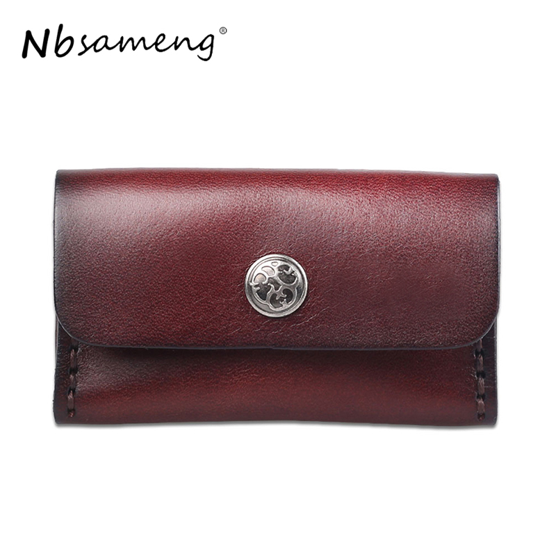 NBSAMENG Genuine Leather Unisex Slim Credit Card Case Wallet Hasp Coin Purses Card Case Small Women Men Pocket Bag smirnoff slim genuine leather wallet case hand made custom name hasp simple style mens wallet super thin card purse mini wallet