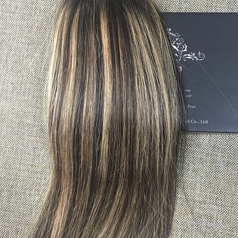 Full Shine 2016 Balayage Ombre Tape Hair Human Glue Hair Extensions