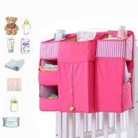 Baby Bed Bedding Set Cot Crib Organizer Bed Hanging Bag For Baby Essentials Diaper Storage Cradle Bag Portable Kid Diaper Pocket