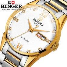 Binger Automatic watch Luxury Geniune Men watches 2016 New Fashion Super Thin Platimum Gentleman Wristwatch