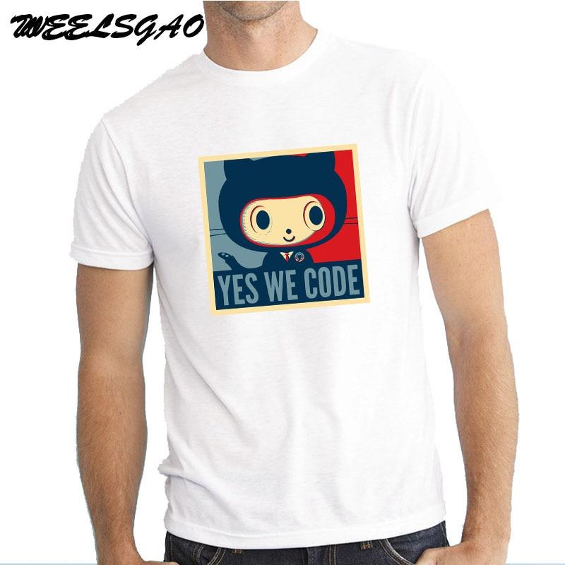 WEELSGAO GEEK Linux Programmer Github Social Coding Geek Mens Fashion T shirts O-neck Code T-shirt