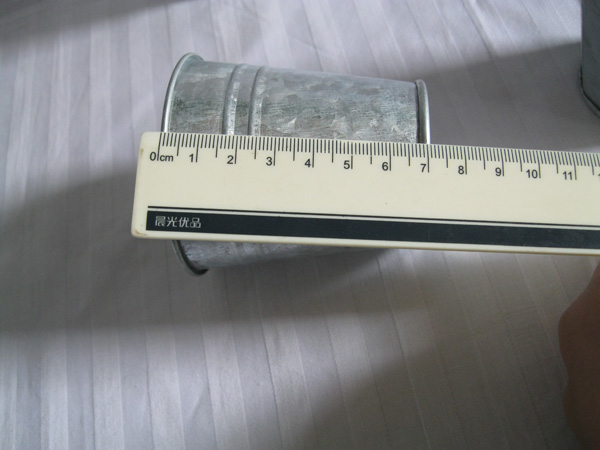 20Pcs / Lot D7XH7CM Silvery Metal Planter - Бақша өнімдері - фото 6