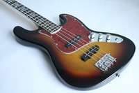 Free delivery of electric bass guitar with rose finger and chrome hardware inlay, red PigGug, custom made