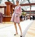 Love pink dress otoño/invierno diseñador cc marca mujeres suéter de punto dress atractiva elegante bodycon vestido femenino de lana cc dress