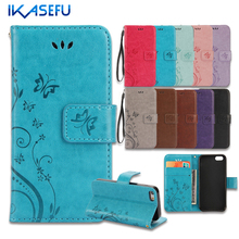 IKASEFU For iPhone 7 Case Stand Wallet Leather Case for iPhone 7 4.7 7Plus 6S 6 Plus SE 5S 5 4S 4 iPod Touch 5 6 Flip Cover Capa