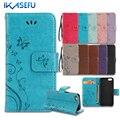 Ikasefu para iphone 7 case suporte carteira de couro case para iphone 7 4.7 7 plus 6 S 6 Mais SE 5S 5 4S 4 iPod Touch 5 6 Tampa Articulada Capa