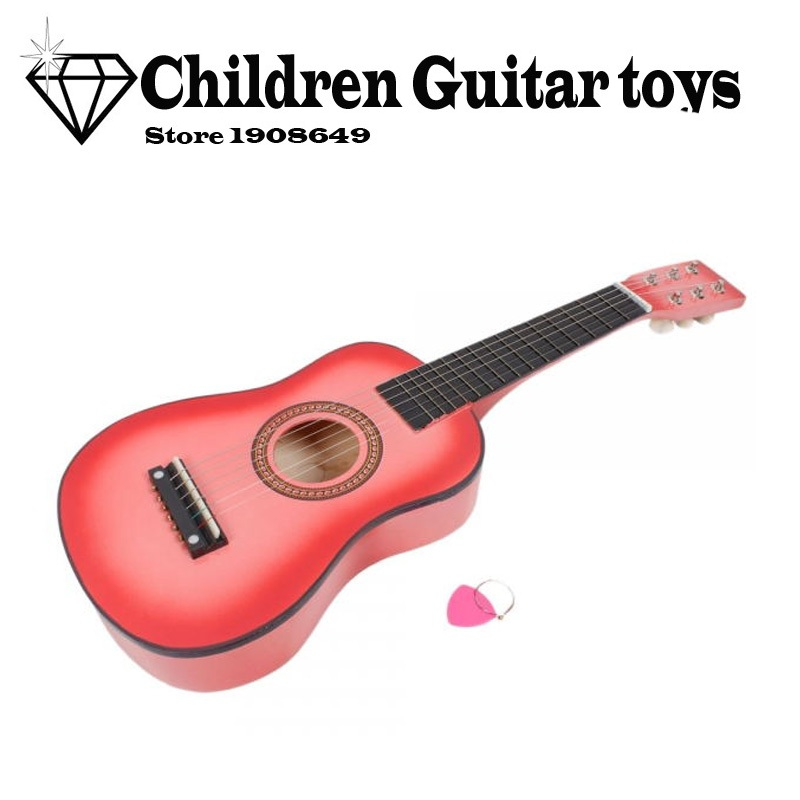 e58dd2613e187 23 inch 6 strings Pink Children guitar Toy guitar Kids guitar Music lover  Guitar beginner-in Guitar from Sports   Entertainment on Aliexpress.com