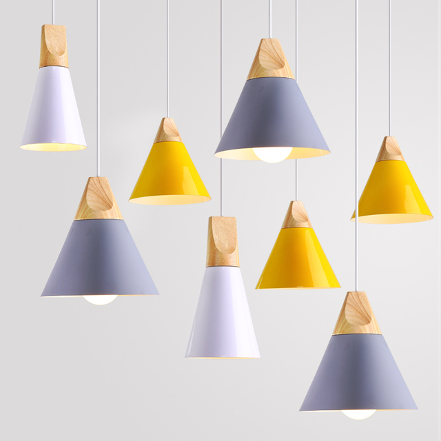 Bedside ceiling lamp color creative personality simple modern three bedside ceiling lamp color creative personality simple modern three solid wood bar restaurant nordic small pendant aloadofball Images