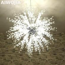 цена на Bocci Firework LED  Light Stainless Steel Ball Lightings Restaurant & Foyer Modern Creative chandelier imitate crystal