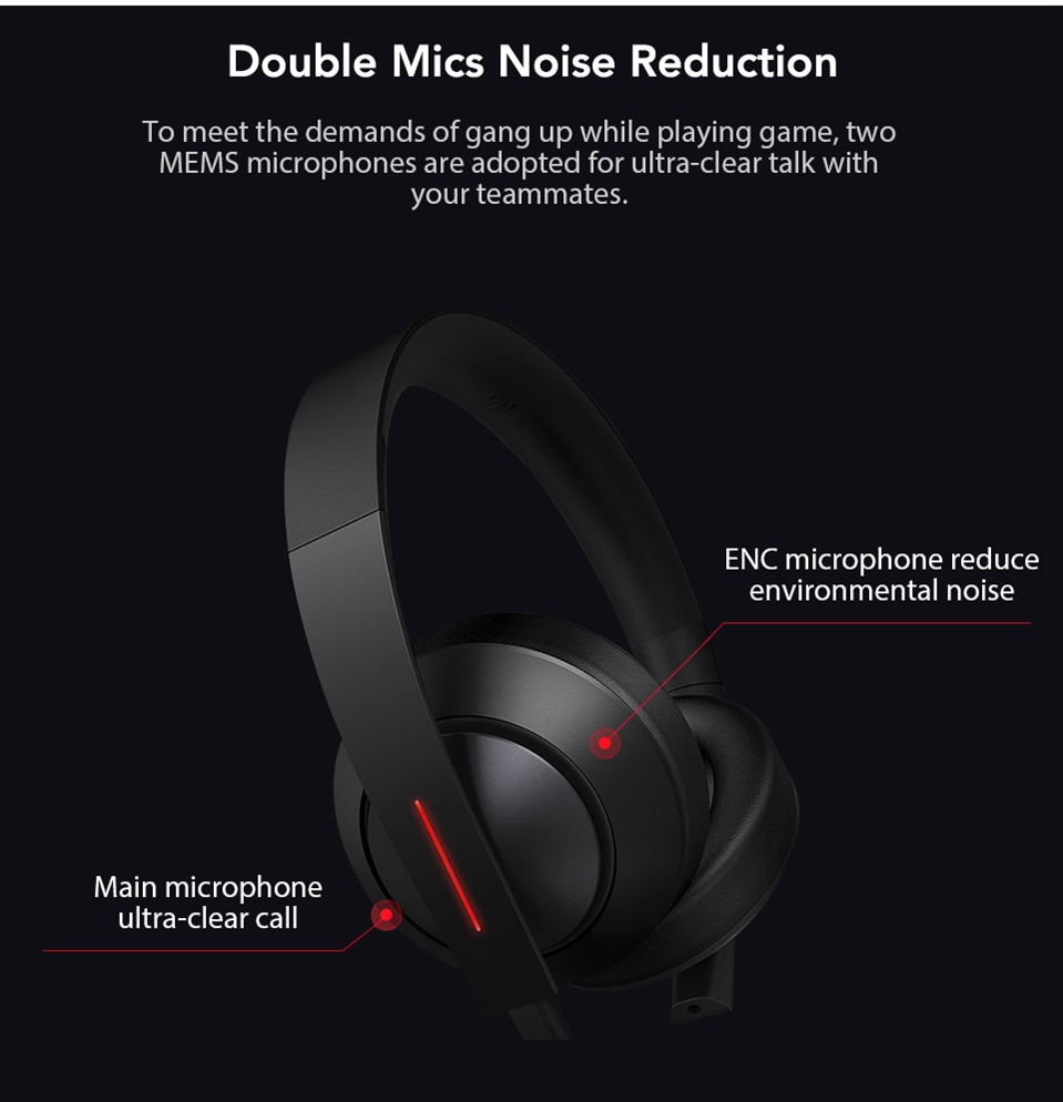 Xiaomi Gaming Headset 7.1 Surround Sound Grephene LED Headphone With Double Mic Noise Reduction Heavy Bass Stereo for PC (3)