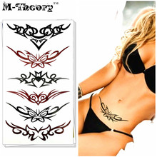 M-Theory Sexy Temporary Tatoos Body Lace Arts Makeup Flash Tattoos Sticker 17x10cm Tatto Waterproof Swimsuit Bikini Dress Makeup
