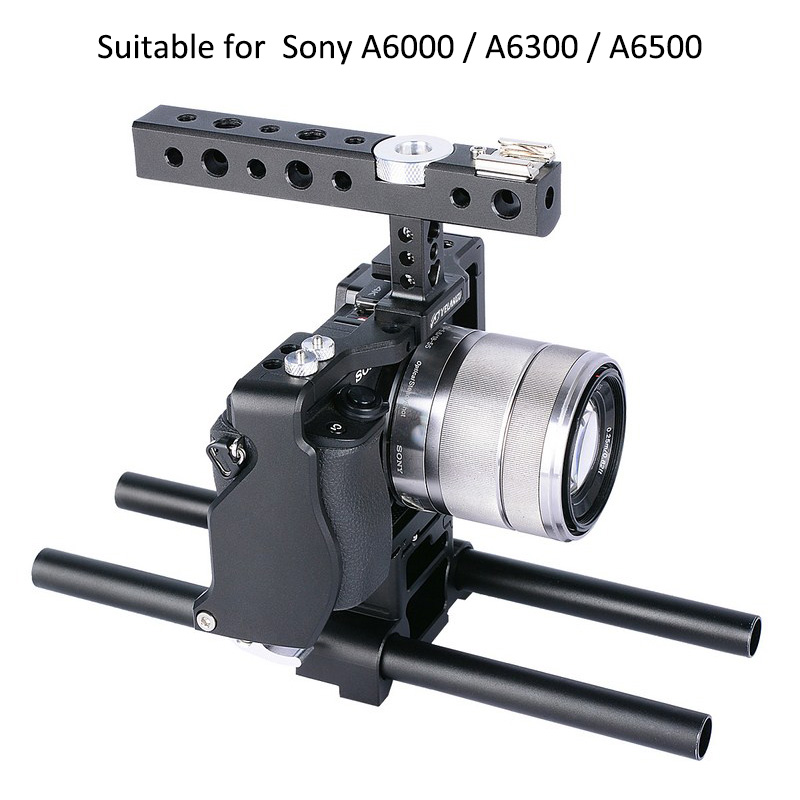 A6000 A6300 A6500 DSLR Camera Cage Kit for Sony A6000 A6300 A6500 Video Camera Cage Camera Stabilizer Lightweight Rig Cage