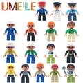 Duplo UMEILE Original City Series Policía/Ladrón/Médico/Enfermera etc. Figura de Partículas Grandes Bloques de Construcción de Bebé Ladrillos de juguete de Regalo