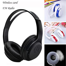 sport headphone Wireless Headphones Headset Noise Cancelling Earphone Card TF And FM Radio wireless earphones fone de ouvido 30(China)