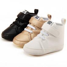 Baby niemowląt buty dziewczyny chłopcy szopka Prewalker buty sneakers Snow noworodek pierwszy Walker Anti-slip dla 0-18M dzieci BTTF tanie tanio ARLONEET Unisex Skórzane Stałe Masz Zaczep pętli Klamra Zima Pasuje do rozmiaru Weź swój normalny rozmiar Dziecko