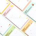 Mesa Semanal Planejador Diário Notas Pegajosas Adesivos Diário Selos Post É de Papel Dos Desenhos Animados material de Escritório Papelaria Coreano Para Fazer A Lista