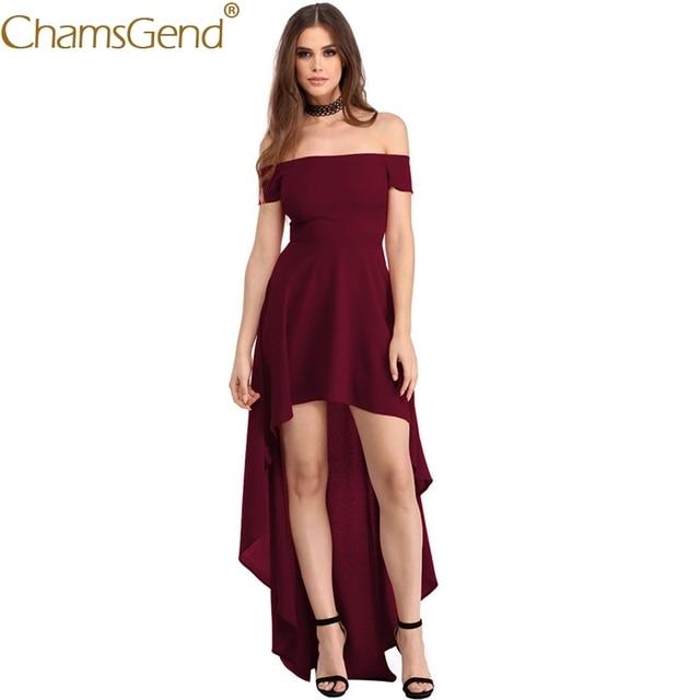 e6b13778e5d8 Chamsgend Dress Newly Design Women Girls Sexy Slash Neck Off Shoulder Short  Sleeve Maxi Long Tail Evening Party Dress 71106