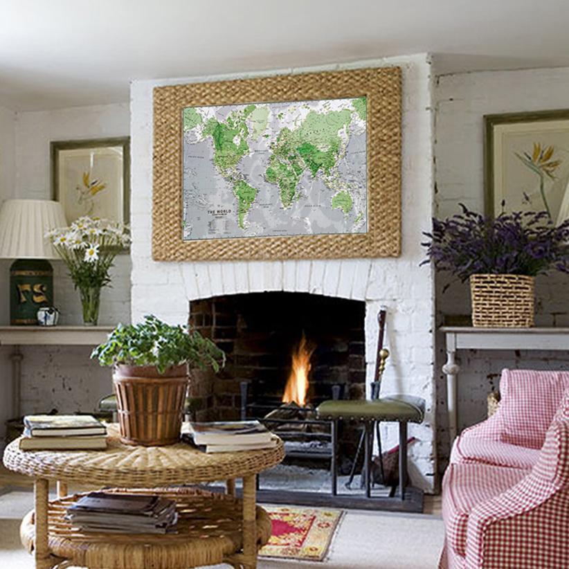 Mapa del mundo pegatinas de pared para cuartos de los niños decoración para el h