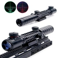 Air Hunting Rifle Scope New 3 9x32EG Riflescope Red&Green Illuminated Rangefinder Reticle Shotgun With Lens Cover Free Shipping