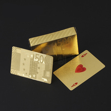 Golden Playing Cards Game Luxury Gold Foil Poker Set Grid Plastic Foil Poker Durable Waterproof Cards Gift Collection все цены