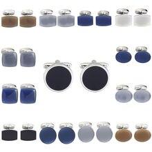 Классические опаловые запонки memolissa с коричневыми/синими/черными/белыми