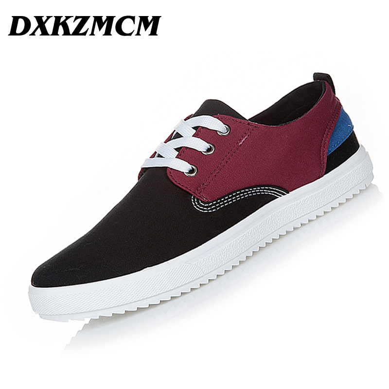 2018 Mens Casual Shoes Canvas shoes For Men Lace-up Breathable fashion summer autumn Flats fashion Male shoes