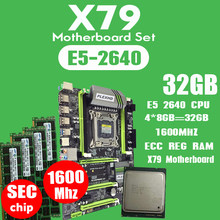PLEXHD X79 Turbo placa base LGA2011 ATX combos E5 2640 CPU 4 piezas x 8 GB = 32 GB DDR3 RAM 1600 Mhz PC3 12800R PCI-E NVME M.2 SSD(China)