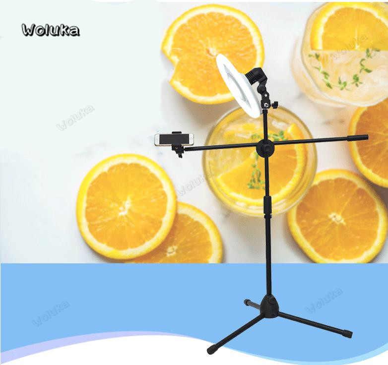Fotografia do telefone móvel alto ângulo de tiro suporte com braço boom bluetooth anel luz tripé para foto/vídeo tiro cd50 t15 h