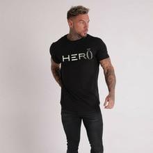 Summer mens brand T-shirt 2019 jogger sportswear shirt fitness fashion street clothing casual