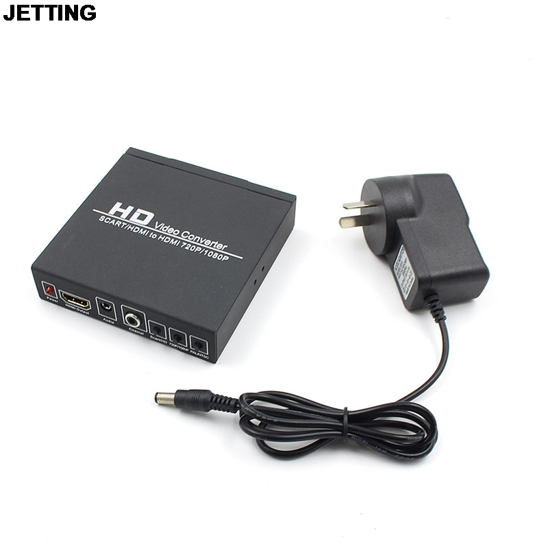 JETTING NEW Arrival Scart/HDMI to HDMI adapter 720P 1080P HD Video Converter Box with power supply for HDTV DVD STB видеодиски нд плэй экстрасенсы dvd video dvd box