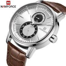 2018 新メンズ腕時計 NAVIFORCE トップブランドの高級日付時計男性革ビジネススポーツ腕時計レロジオ Masculino