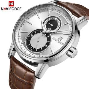 Image 1 - 2018 New Men Watch NAVIFORCE Top Brand Luxury Mens Quartz Date Clock Male Leather Business Sport Watches Relogio Masculino