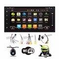 Quad Core androide de dvd del coche doble din navegación gps Wifi + Bluetooth + Radio para Toyota Camry Corolla Prado Hilux RAV4