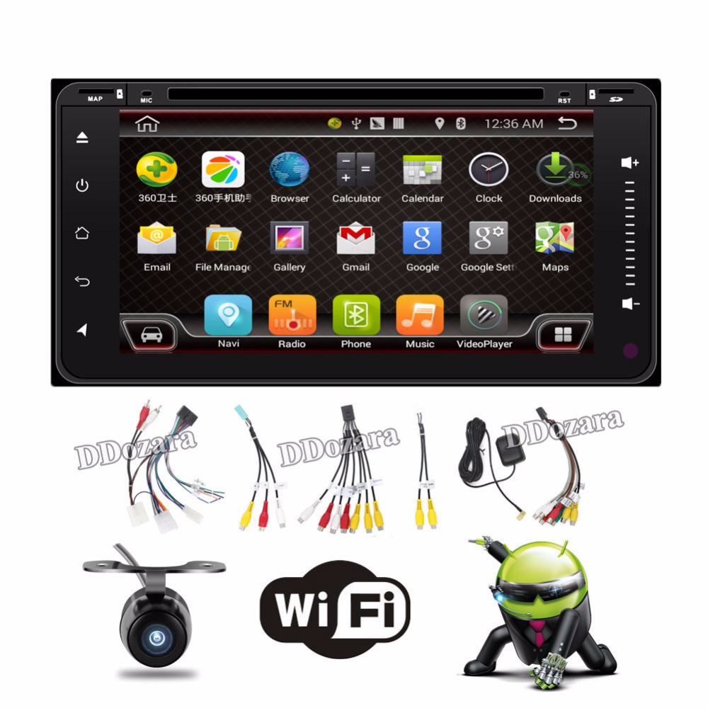 Quad Core car dvd android double din gps navigation Wifi+Bluetooth+Radio for Toyota Hilux Camry Corolla Prado RAV4 автомобильный dvd плеер joyous kd 7 800 480 2 din 4 4 gps navi toyota rav4 4 4 dvd dual core rds wifi 3g