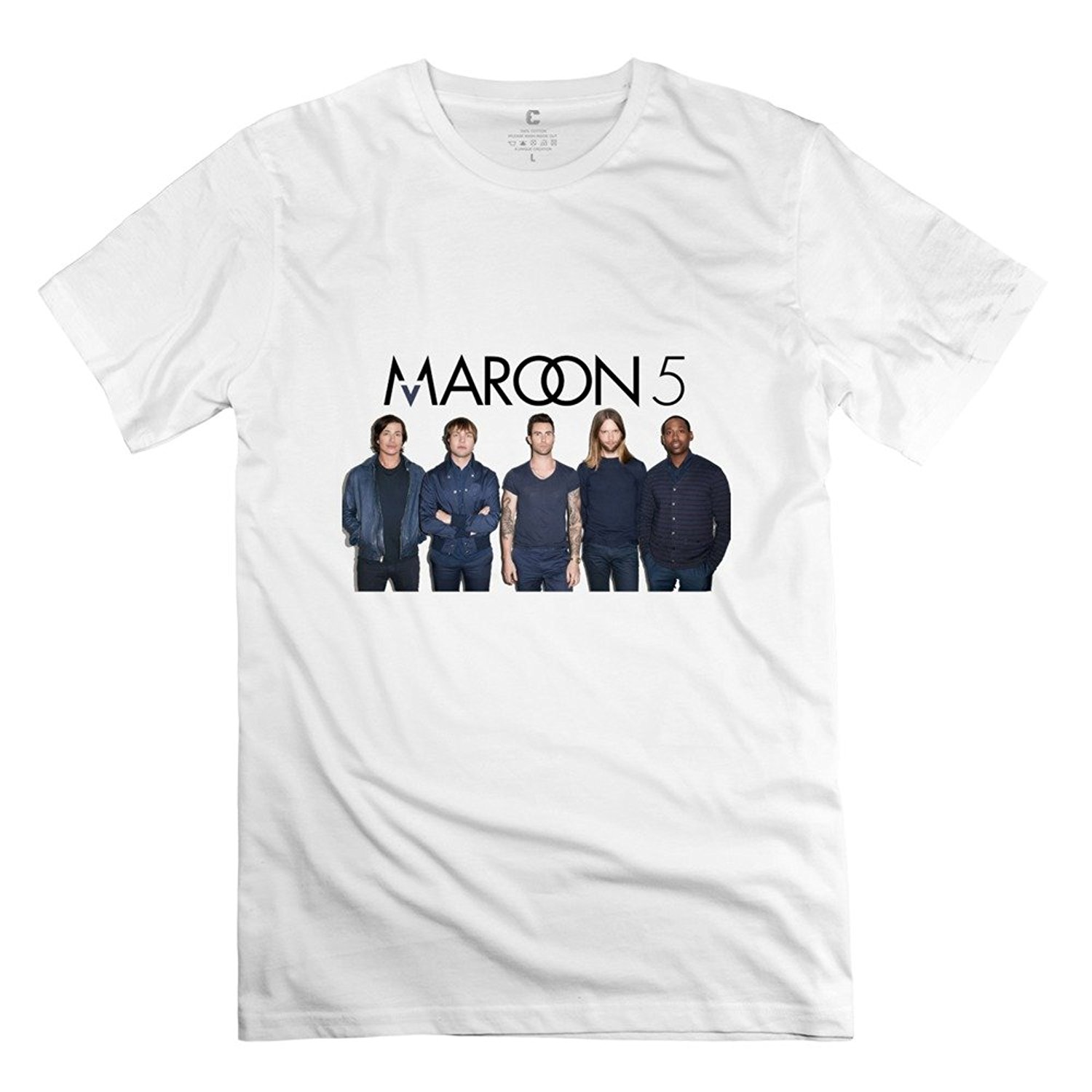 Mens Maroon 5 T-Shirt- White