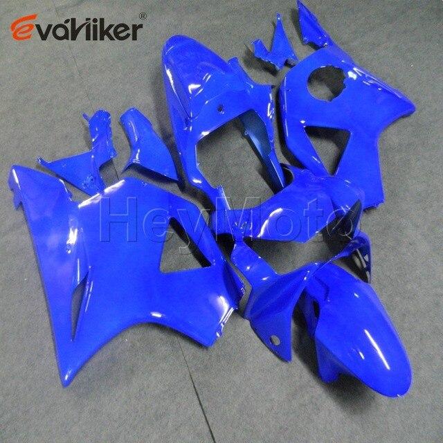 Carène de moto en plastique ABS | Capot de moto personnalisé pour CBR954RR 2002-2003 commande de moto + flammes bleues
