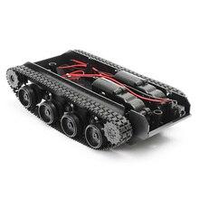 StoßdämpfungTank Modell DIY Montiert 130 Motor Roboter Panzer Lernspiele
