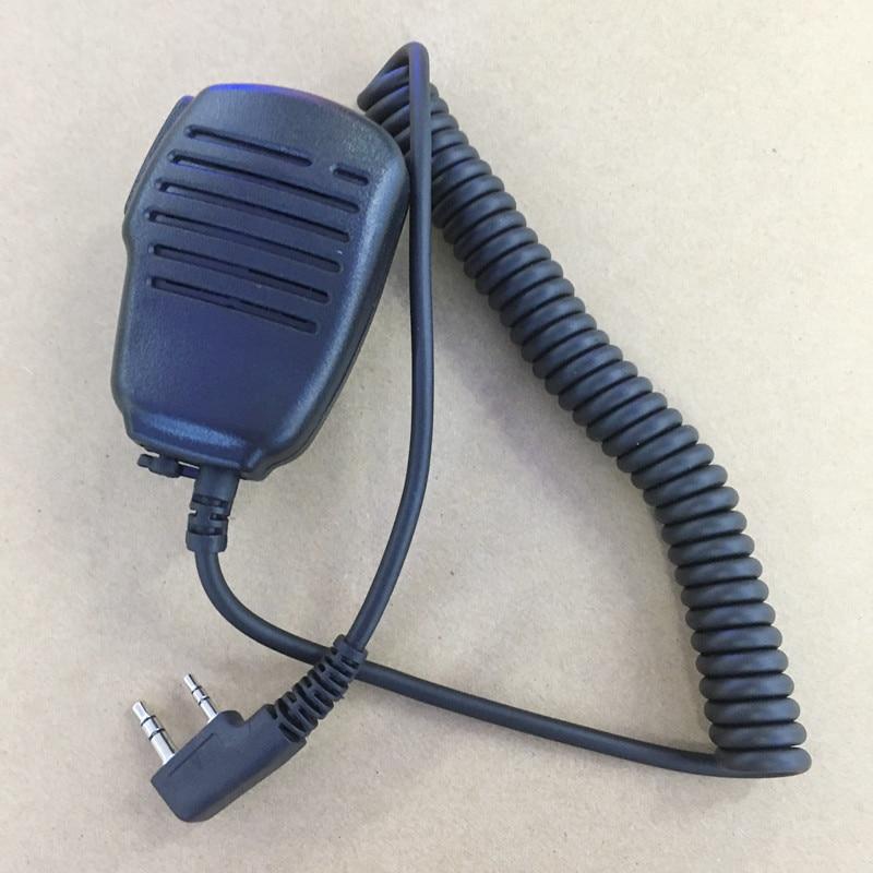 honghuismart shoulder microphone handfree speaker 2 Pins K plug for KENWOOD BAOFENG UV5R Quansheng Puxing Wouxun