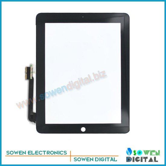 for the new ipad 3 Touch screen digitizer Touch panel White or Black,100%  new,1set 3M adhesive Free