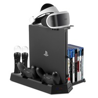 All in One PS VR Stand for PS4 PS4 Slim PS4 Pro Vertical Stand Cooling fan Controller Charging Station PSVR Glasses Holder