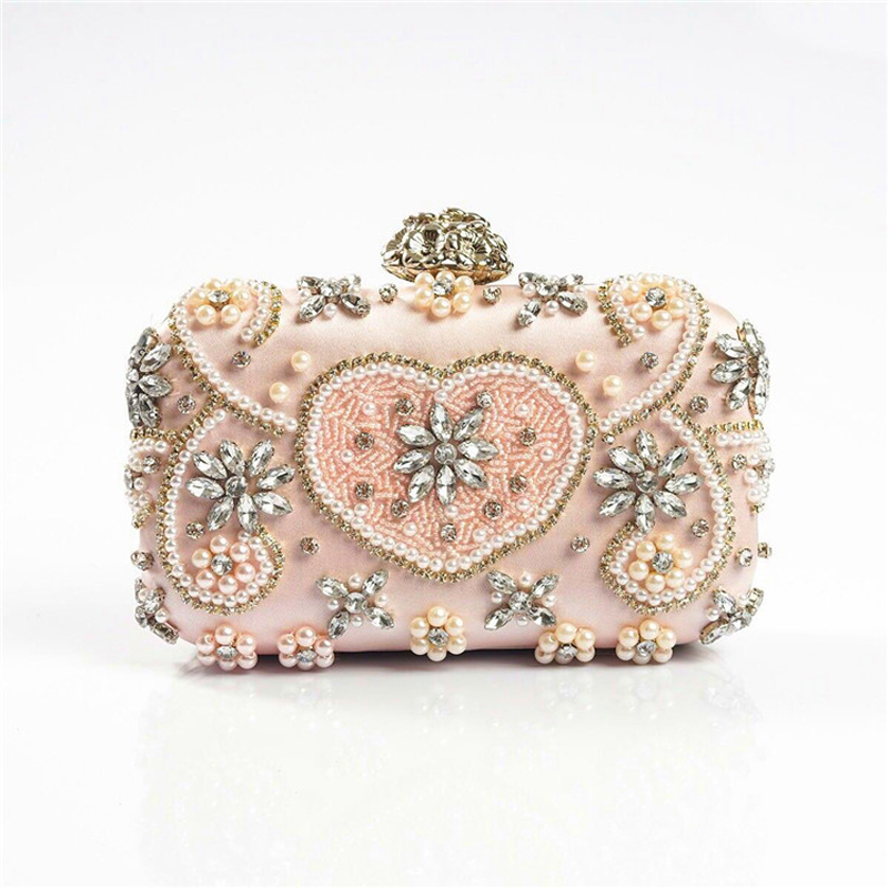 Women  Evening Bridal Wallet Envelope Flash Diamond Clutch Portable Shoulder Bag