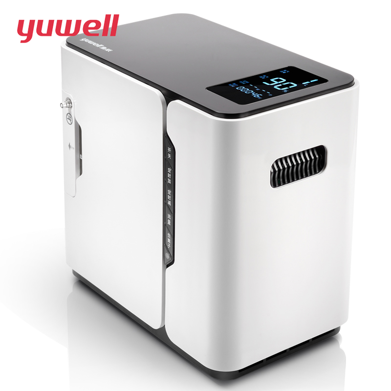 yuwell Portable Oxygen Concentrator Generator Medical Oxygen Supply Machine Home Concentrator LCD Display 1L/2L O2 Flow(YU300) 32w oxygen concentrator machine portable oxygen generator 3l min low noise