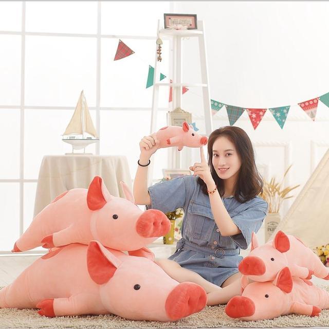 50-100 cm tamanho Maior brinquedos Dos Desenhos Animados pink pig plush brinquedos porco gordo travesseiro macio almofada porco zodíaco Chinês aniversário da boneca presente do miúdo do bebê