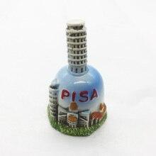 Италия Пизанская башня сувенир керамический Маленький Колокольчик ремесла украшение 7x4 см